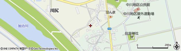 新潟県新発田市川尻周辺の地図