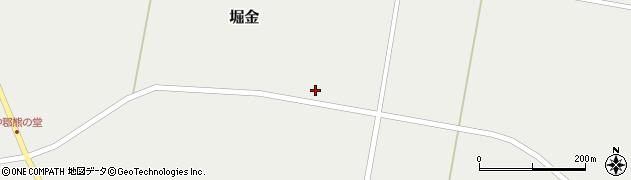 山形県東置賜郡川西町堀金1247周辺の地図