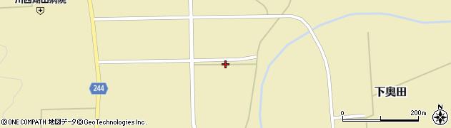 山形県東置賜郡川西町下奥田1075周辺の地図