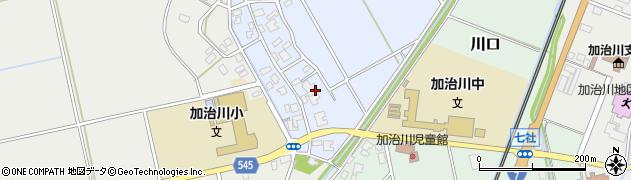 新潟県新発田市稲荷周辺の地図