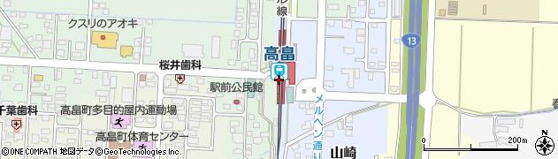 山形県東置賜郡高畠町周辺の地図