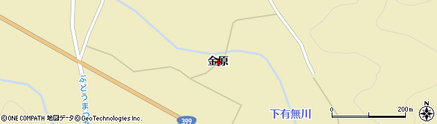 山形県東置賜郡高畠町金原周辺の地図
