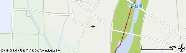 山形県東置賜郡川西町下平柳坂水周辺の地図