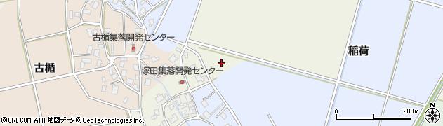 新潟県新発田市塚田周辺の地図