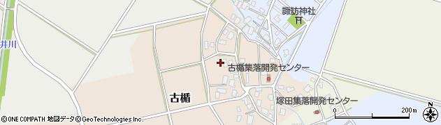 新潟県新発田市古楯周辺の地図