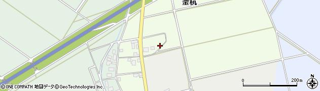 新潟県新発田市釜杭周辺の地図
