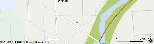 山形県東置賜郡川西町下平柳412周辺の地図