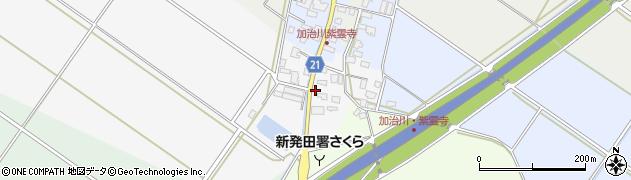 新潟県新発田市南成田周辺の地図