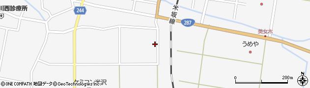 山形県東置賜郡川西町上小松2282周辺の地図
