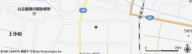 山形県東置賜郡川西町上小松道徳周辺の地図