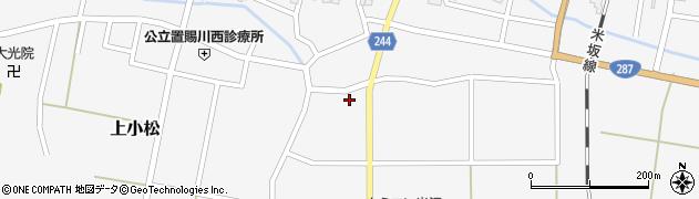 山形県東置賜郡川西町上小松2519周辺の地図