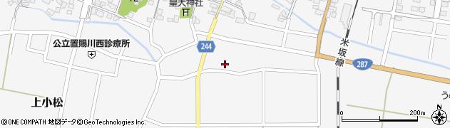 山形県東置賜郡川西町上小松2537周辺の地図
