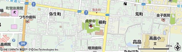 貞泉寺周辺の地図