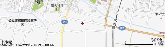 山形県東置賜郡川西町上小松2376周辺の地図