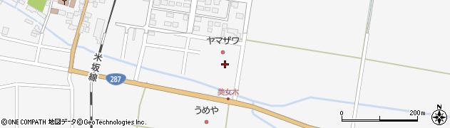 山形県東置賜郡川西町上小松1143周辺の地図