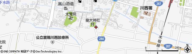 山形県東置賜郡川西町上小松3104周辺の地図