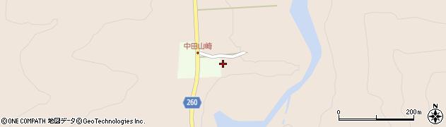 山形県西置賜郡小国町中田山崎周辺の地図