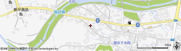 山形県東置賜郡川西町上小松3307周辺の地図