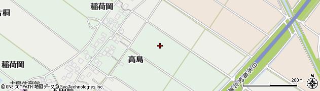 新潟県新発田市高島周辺の地図