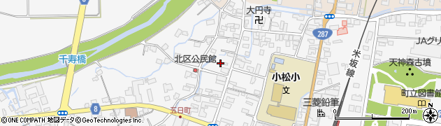 山形県東置賜郡川西町上小松3554周辺の地図