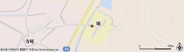 新潟県新発田市境周辺の地図
