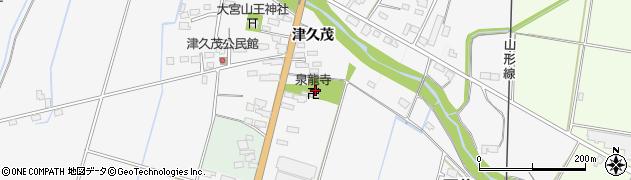 泉竜寺周辺の地図