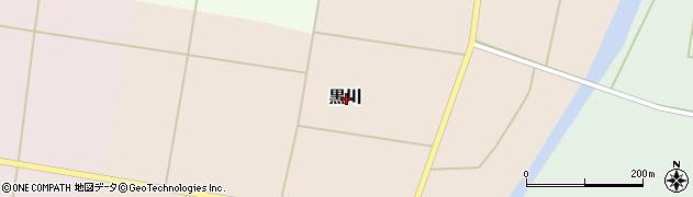 山形県東置賜郡川西町黒川周辺の地図