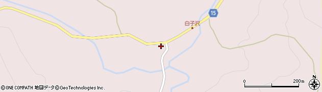 山形県西置賜郡小国町白子沢周辺の地図