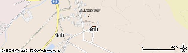 新潟県新発田市金山周辺の地図