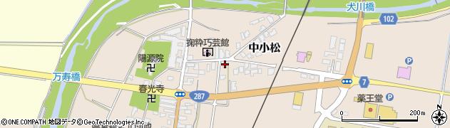 山形県東置賜郡川西町中小松2463周辺の地図