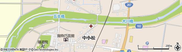 山形県東置賜郡川西町中小松2920周辺の地図