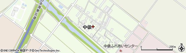 新潟県新発田市中俵周辺の地図