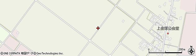 新潟県新発田市金塚周辺の地図
