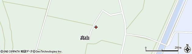 山形県東置賜郡川西町高山1603周辺の地図