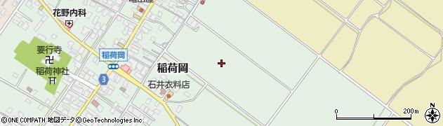 新潟県新発田市稲荷岡周辺の地図