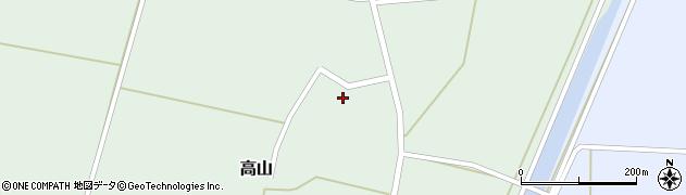 山形県東置賜郡川西町高山中里周辺の地図