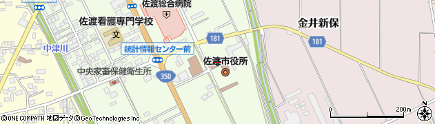 新潟県佐渡市周辺の地図