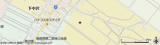 新潟県新発田市下中沢周辺の地図