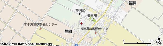 新潟県新発田市富島周辺の地図