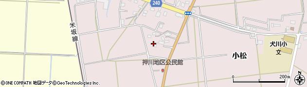 山形県東置賜郡川西町小松1958周辺の地図