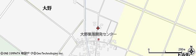 新潟県新発田市大野周辺の地図