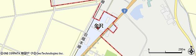 新潟県新発田市金沢周辺の地図