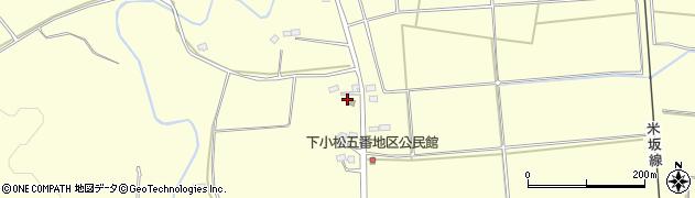 山形県東置賜郡川西町下小松周辺の地図