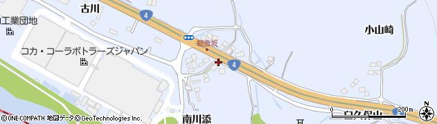 宮城県蔵王町(刈田郡)宮(海道東堀添)周辺の地図