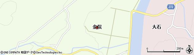 新潟県関川村(岩船郡)金俣周辺の地図