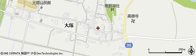 山形県東置賜郡川西町大塚2207周辺の地図