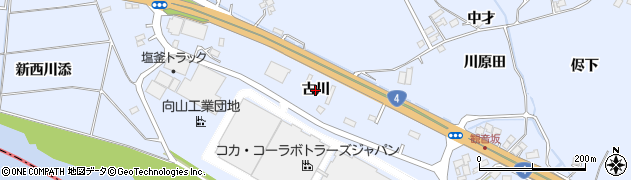 宮城県蔵王町(刈田郡)宮(古川)周辺の地図