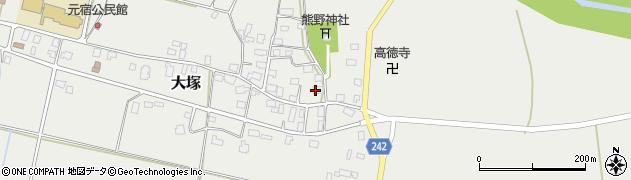 山形県東置賜郡川西町大塚2202周辺の地図