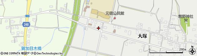 山形県東置賜郡川西町大塚3044周辺の地図