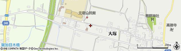 山形県東置賜郡川西町大塚3025周辺の地図